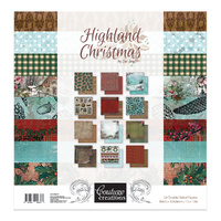 "Couture Creations Highland Christmas 12x12"" Paper Pad"