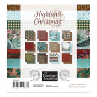"Couture Creations Highland Christmas 6x6"" Paper Pad"