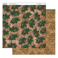 "Couture Creations Highland Christmas 12x12"" Double Sided Paper #12"