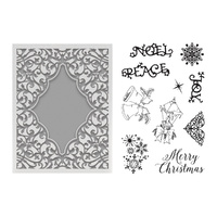 Couture Creations Highland Christmas Stamp and Emboss Set Noel