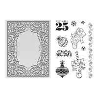 Couture Creations Highland Christmas Stamp and Emboss Set Joyful