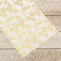 Couture Creations Special Occasions Foiled Paper Pack Gold Vines on White