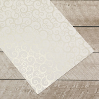 Couture Creations Special Occasions Foiled Paper Pack Silver Swirls on White
