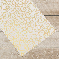 Couture Creations Special Occasions Foiled Paper Pack Gold Swirls on White