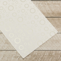 Couture Creations Special Occasions Foiled Paper Pack Silver Circles on White
