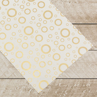 Couture Creations Special Occasions Foiled Paper Pack Gold Circles on White