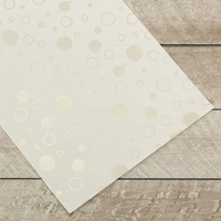 Couture Creations Special Occasions Foiled Paper Pack Silver Bubbles on White