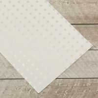 Couture Creations Special Occasions Foiled Paper Pack Silver Stars on White