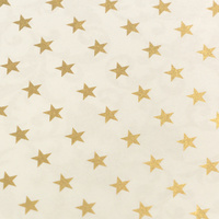 Couture Creations Special Occasions Foiled Paper Pack Gold Stars on White