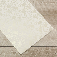 Couture Creations Special Occasions Foiled Paper Pack Silver Damask on White