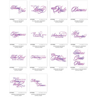 Couture Creations Everyday Sentiments Hotfoil Stamp Buy It All Pack 14pc