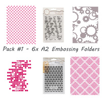 Couture Creations Embossing Folder 6pk