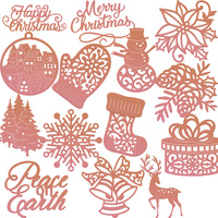Couture Creations Highland Christmas Mini Die Collection Pack