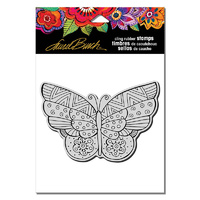 Stampendous Cling Stamp Flutterbye by Laurel Burch