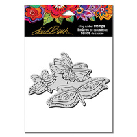 Stampendous Cling Stamp Flutterbye Trio by Laurel Burch