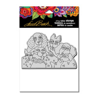 Stampendous Cling Stamp Playful Pups by Laurel Burch