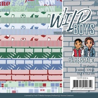 "Find It Trading Wild Boys 6x6"" Paper Pack 23pg"