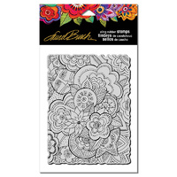 Stampendous Cling Stamp Carlotta's Garden by Laurel Burch