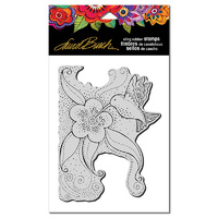 Stampendous Cling Stamp Hummingbird Blossom by Laurel Burch