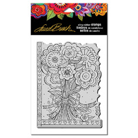 Stampendous Cling Stamp Flower Bouquet by Laurel Burch
