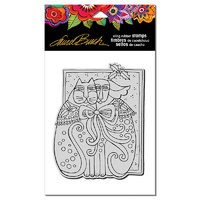 "Stampendous Cling Stamp 6.5x4.5"" Kindred Holiday by Laurel Burch"
