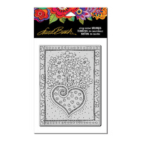 Stampendous Cling Stamp Heart Bouquet by Laurel Burch