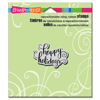 "Stampendous Cling Stamp 4.75x4.5"" Holiday Scrolls"