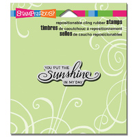 Stampendous Cling Stamp Scrolled Sunshine