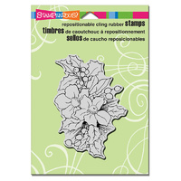 "Stampendous Cling Stamp 6.5x4.5"" Christmas Roses"
