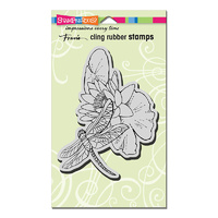 Stampendous Cling Stamp Dragonfly Lily