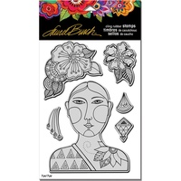 Stampendous Cling Stamp Blossoming Woman by Laurel Burch