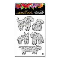 Stampendous Cling Stamp Dog Park with Template by Laurel Burch