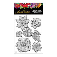 Stampendous Cling Stamp Blossoms with Template by Laurel Burch