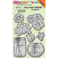 Stampendous Cling Stamps Build a Bouquet