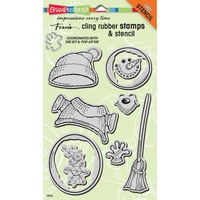 Stampendous Cling Stamps Create Winter Set