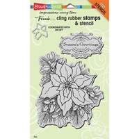 Stampendous Cling Stamps Create a Poinsettia Set