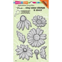 Stampendous Cling Stamps Daisy Mix
