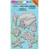 Stampendous Cling Stamps Seashells