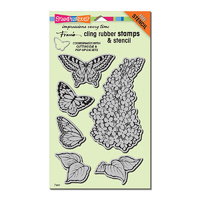 Stampendous Cling Rubber Stamp Set Lilac Posies