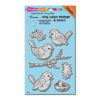 Stampendous Cling Stamps Spring Tweets by Fran Seiford