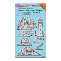 Stampendous Cling Stamp Build a Lighthouse with with Template