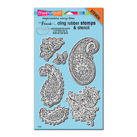 Stampendous Cling Stamp Paisley Pattern with Template