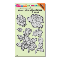 Stampendous Cling Stamp Rose Garden with Bonus Stencil