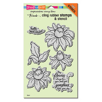 Stampendous Cling Rubber Stamp Coneflower