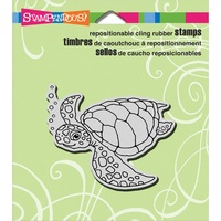 Stampendous Cling Rubber Stamp Sea Turtle