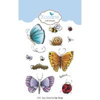 Elizabeth Craft Designs Clear Stamps Bugs & Butterflies by Krista Schneider