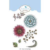 Elizabeth Craft Designs Clear Stamps Blossom Time by Krista Schneider