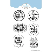 Elizabeth Craft Designs Clear Stamps Birthday Sentiments