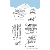 Elizabeth Craft Designs Clear Stamp Set  A Bit of Fragrance Collection by Joset Designs