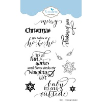 Elizabeth Craft Designs Clear Stamp Set Christmas Collection by Suzanne Cannon